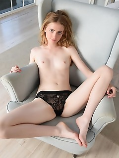 Sweet girl with pale twat